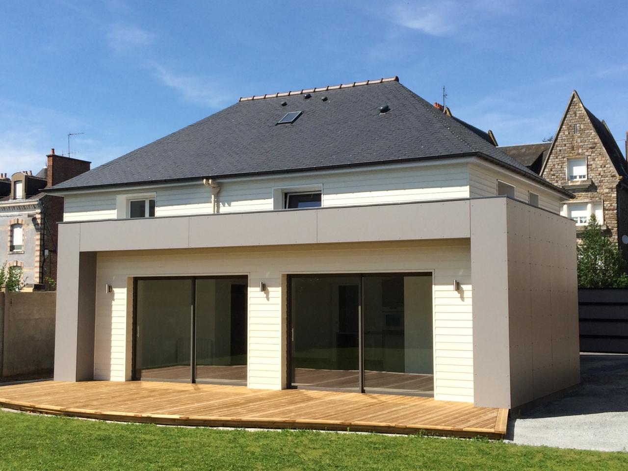 Derouet constructeur de maison bois en mayenne 53 for Petite extension bois