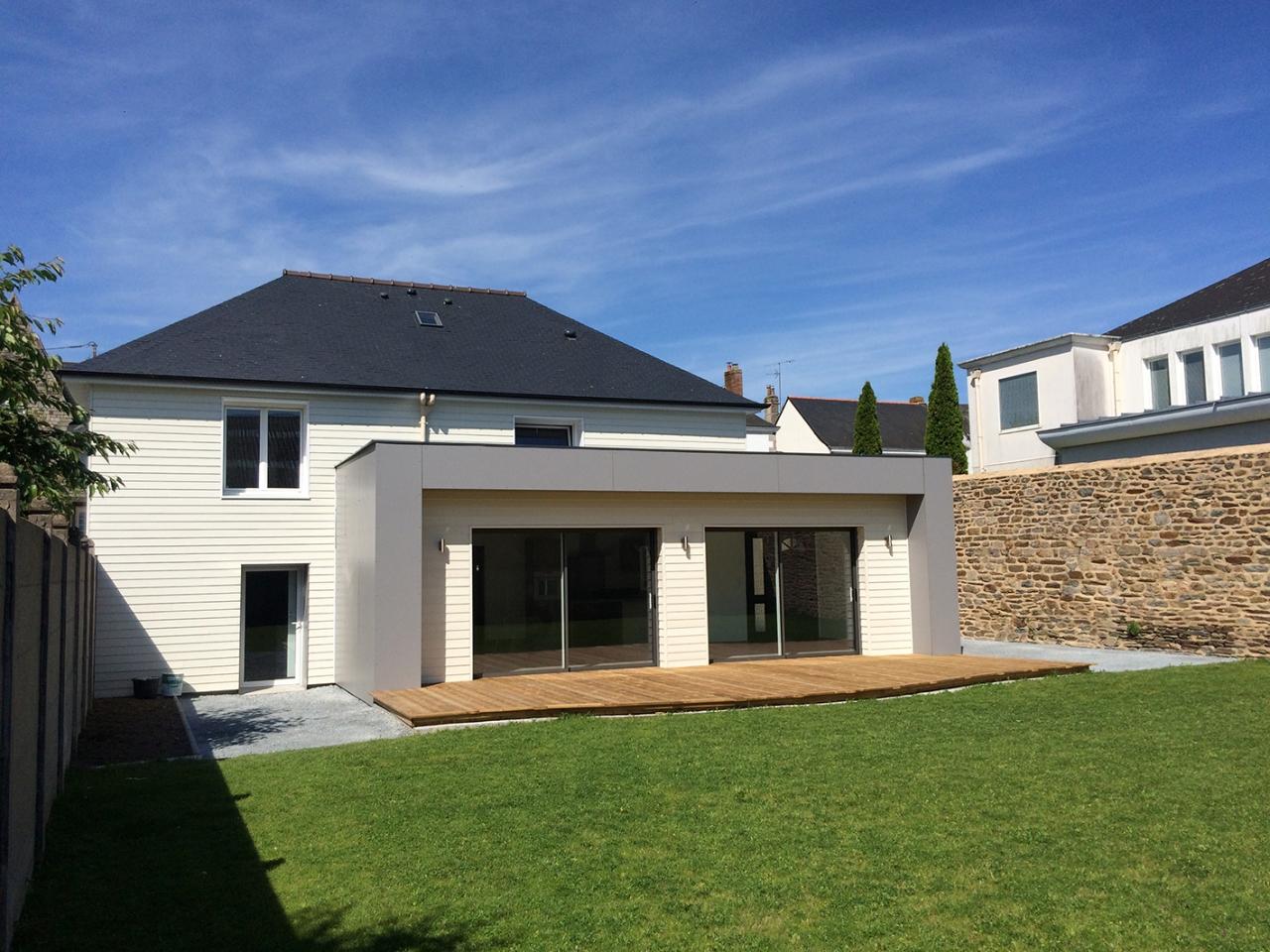 Extension Maison Terrasse Couverte derouet constructeur de maison bois en mayenne (53), expert
