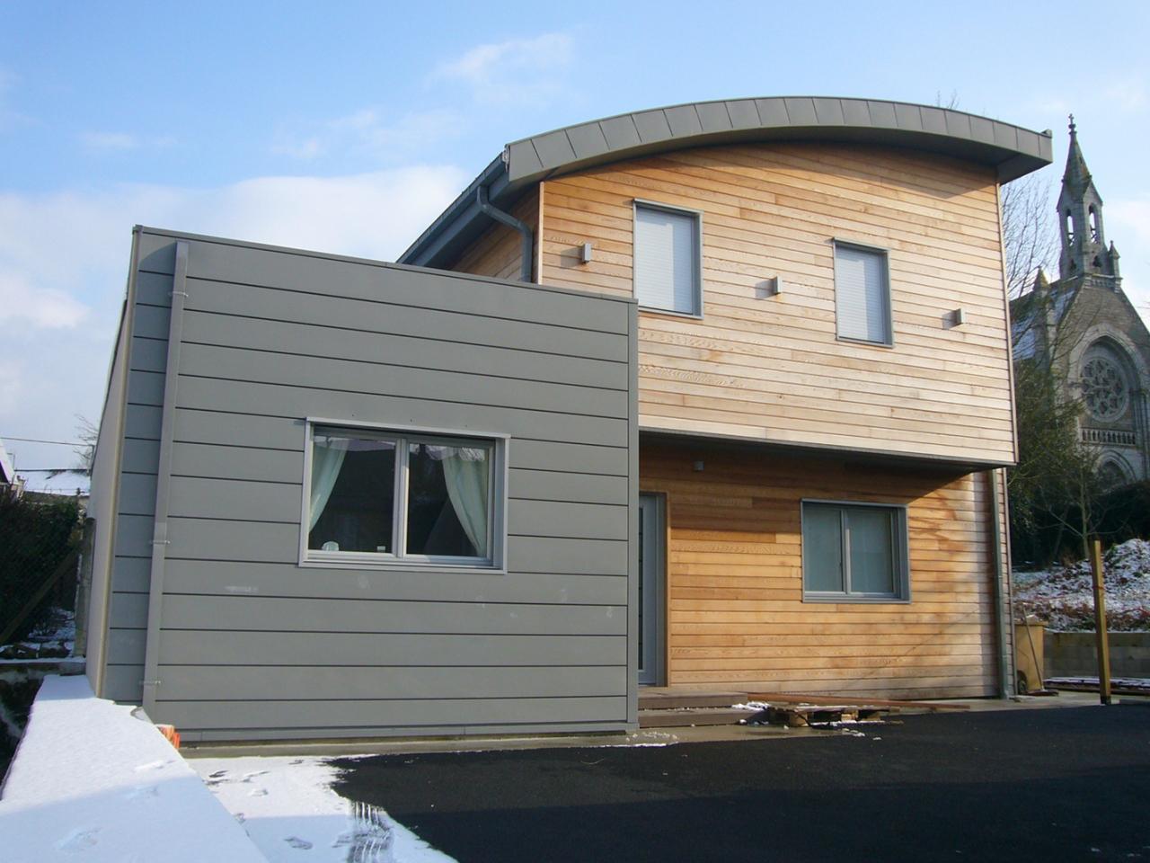 maison bois zinc